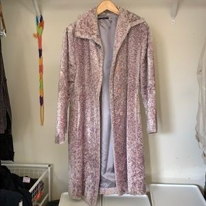 Jackets & Blazers - Sisley purple long furry jacket